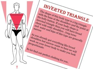 how to dress your body type, inverted triangle body shape