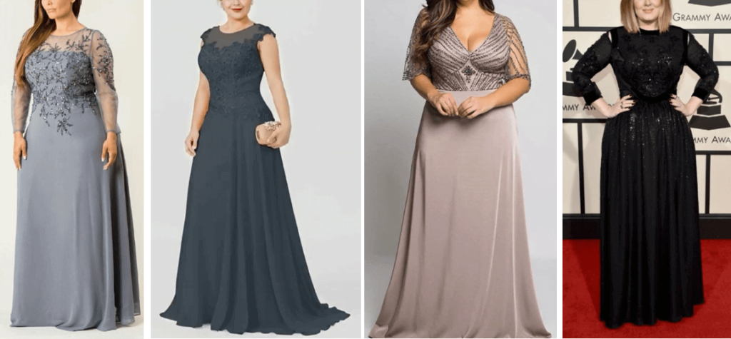 GOWNS FOR FAT GIRL TO LOOK SLIM